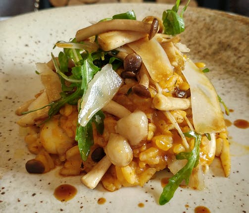 Vegan Roasted Butternut Squash and Wild Mushroom Risotto