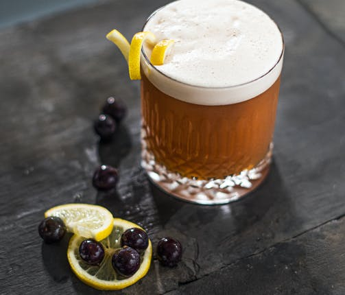 Adnams Cocktails – Sloe Gin Sour & Sloe Toddy