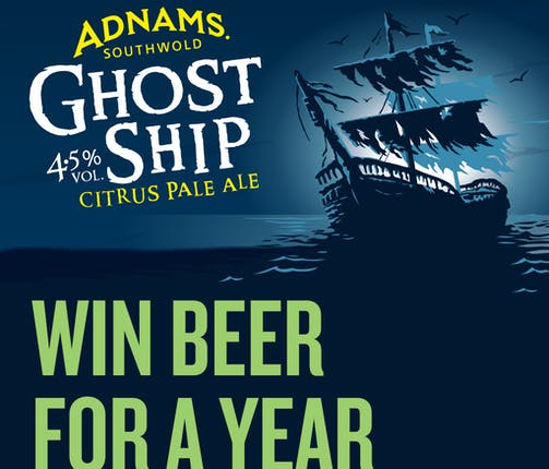 Win Beer For A Year with Ghost Ship 4.5%