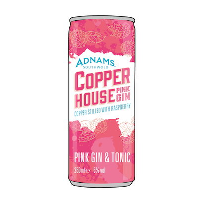 Adnams Pink G&T cans now available!