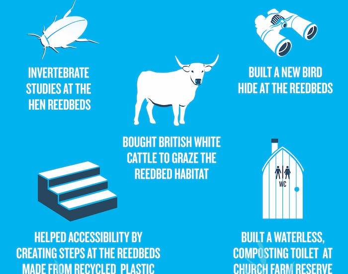 How Adnams carrier bag sales have helped wildlife infographic