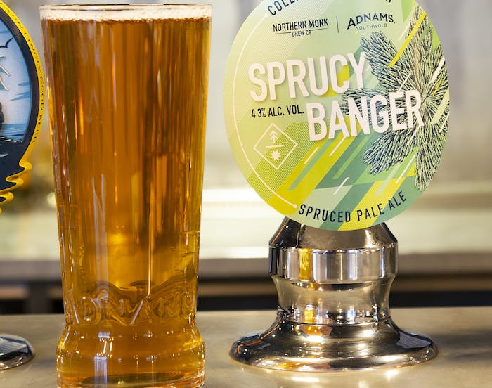 New collaboration beer, Sprucy Banger, is now available...