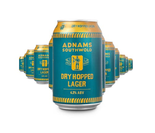 Adnams Jack Brand Dry Hopped Lager Cans