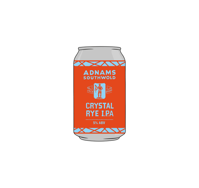 Adnams Jack Brand Crystal Rye IPA 24x330ml cans - from Adnams