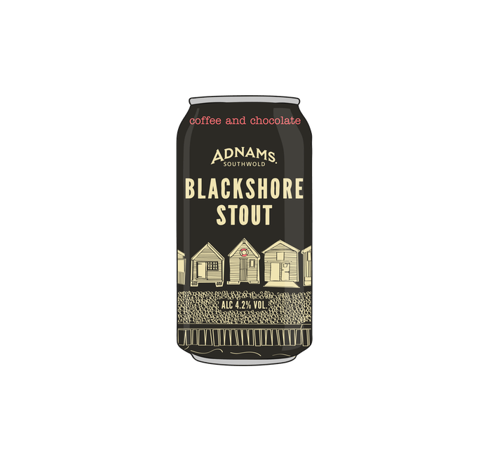 Adnams Blackshore Stout 24 x 440ml cans - from Adnams