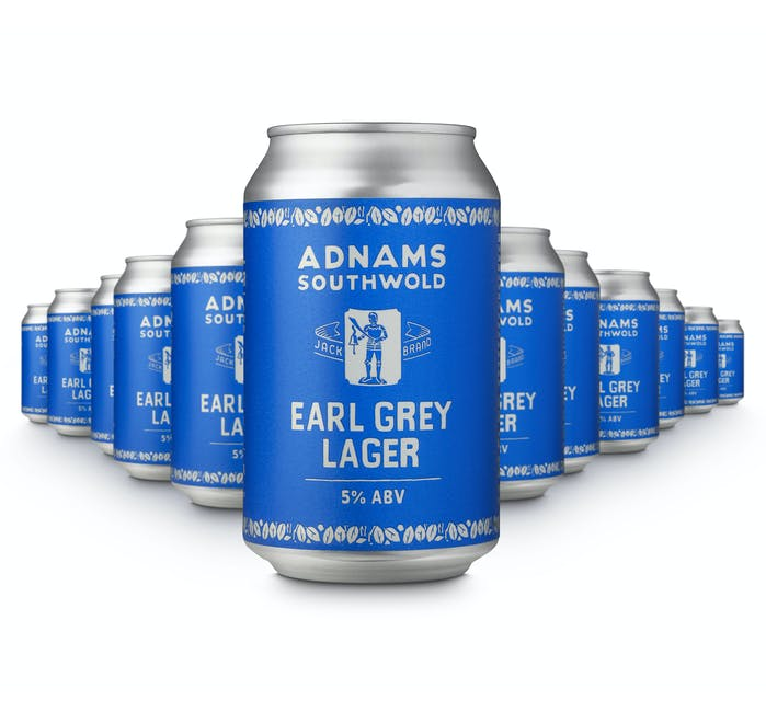 Adnams Jack Brand Earl Grey Lager 12x330ml cans - from Adnams