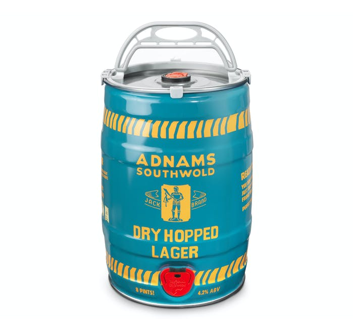 Adnams Jack Brand Dry Hopped Lager Twin Mini-Keg 2x5Ltr - from Adnams