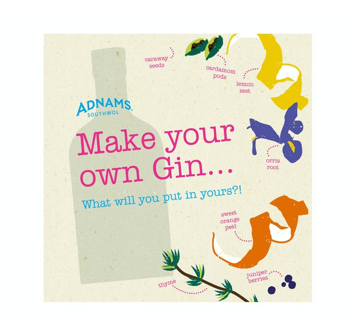 Make Your Own Gin' Gift Card - from Adnams