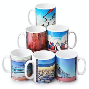 Adnams Box of 6 Beer from the Coast mugs