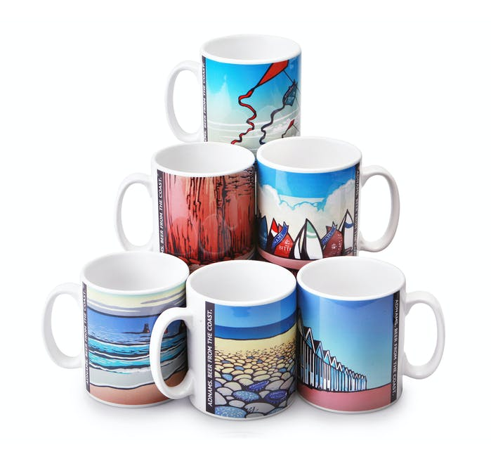 Adnams Beer from the Coast Mugs, set of 6 - from Adnams
