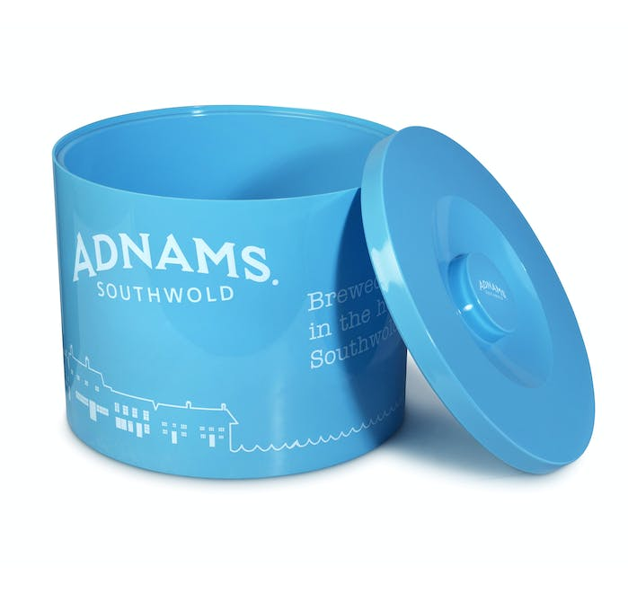 Adnams Blue Plastic Ice Bucket - from Adnams