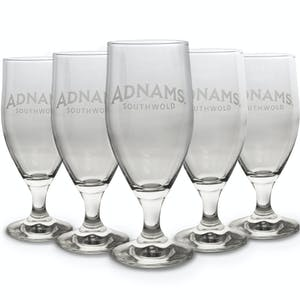 Adnams Stemmed Half-Pint Glasses, pack of six