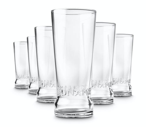 six adnams pint glasses