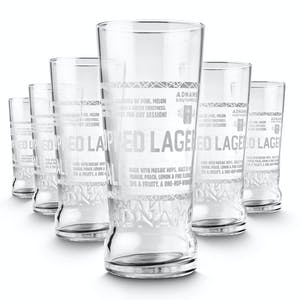 Jack Brand Pint Glasses, pack of six