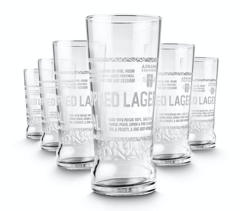 Jack Brand Pint Glasses, set of 6 - from Adnams