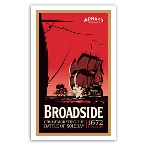 Adnams Broadside Tea Towel