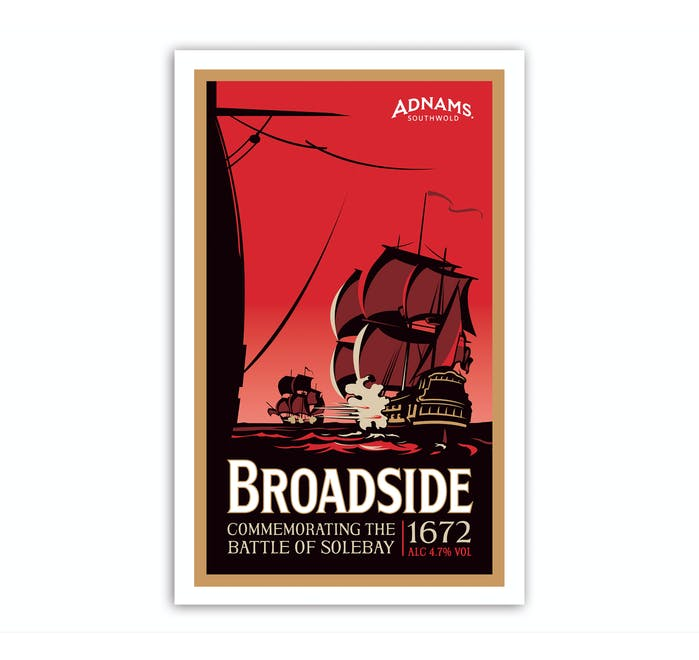 Adnams Broadside Tea Towel - from Adnams