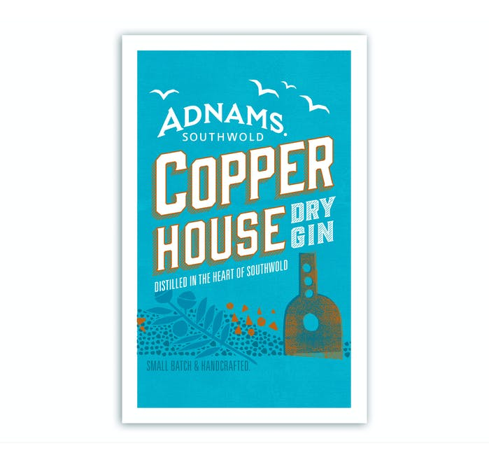 Adnams Copper House Dry Gin Tea Towel - from Adnams