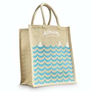 Adnams Jute Bag for Wine - Waves & Boats design
