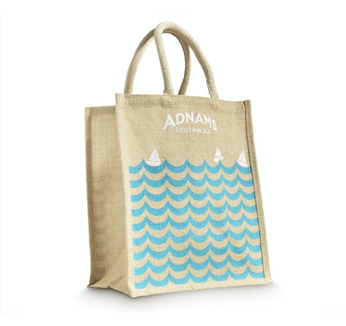 Adnams Jute Bag for Wine, Waves and Boats design - from Adnams
