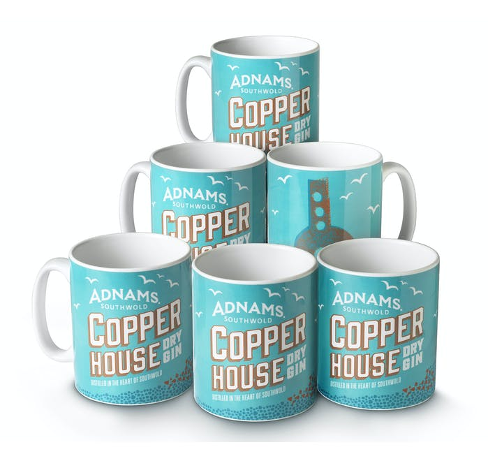 Adnams Copper House Gin Mugs, set of 6 - from Adnams