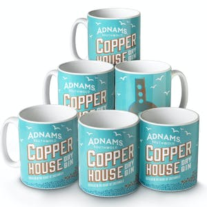 Adnams Copper House Gin Mug, box of 6