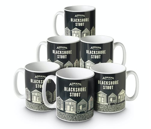 Adnams Blackshore Stout Mugs, set of 6 - from Adnams