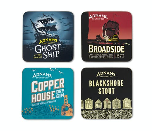 Adnams Set Of 4 Coasters Giftbox - from Adnams