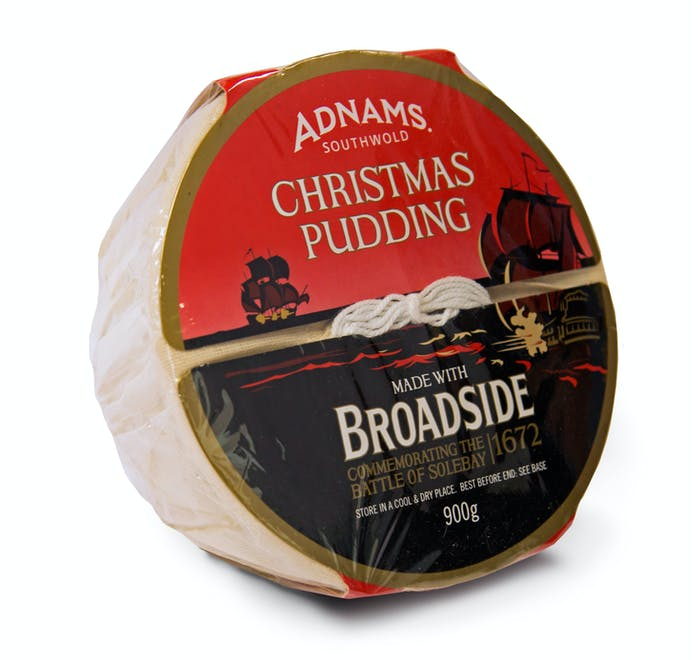 Adnams Broadside Christmas Pudding, large - from Adnams