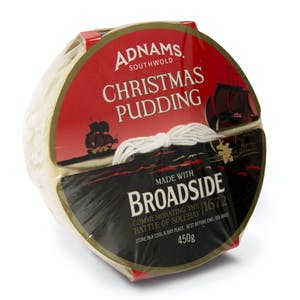 Adnams Broadside Christmas Pudding, 450gm