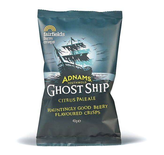 Adnams Ghost Ship Crisps, box of 24 - from Adnams