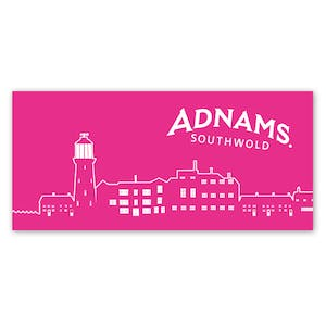 Adnams Pink Townscene Beach Towel