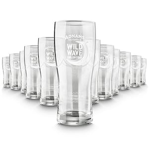 12 Adnams Wild Wave Glasses