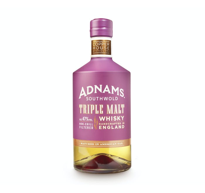 Adnams Triple Malt Whisky 70cl, 47% (aged for 5 years) - from Adnams