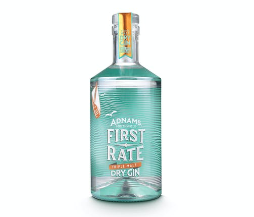 Adnams First Rate Triple Malt Dry Gin 45% 70cl
