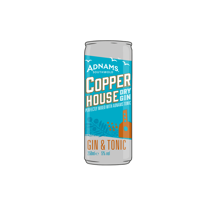 Adnams Copper House Gin & Tonic Cans 12 x 250ml  - from Adnams