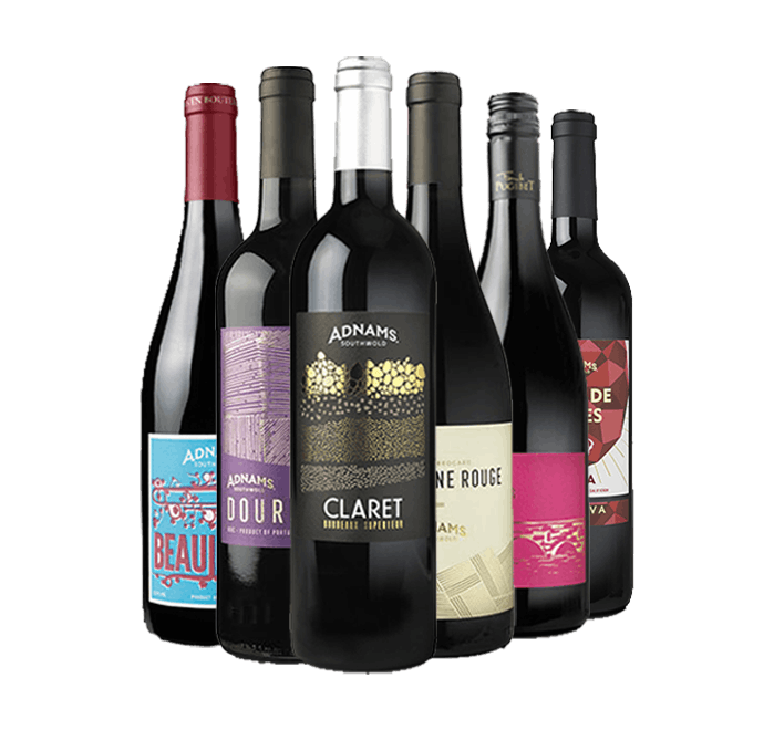 A delicious six bottle case of red wine from Adnams