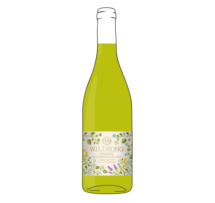 Wildsong Organic Sauvignon Blanc, Hawke's Bay New Zealand 2018
